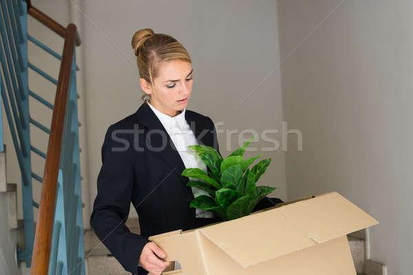 Işkadını ofis üzücü genç Stok fotoğraf © AndreyPopov