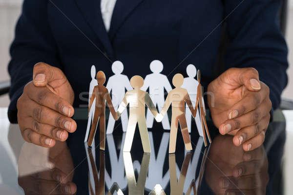 Menschlichen Hand Business Papier Hand Stock foto © AndreyPopov