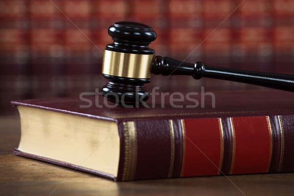 Mallet On Legal Book In Courtroom Stock photo © AndreyPopov