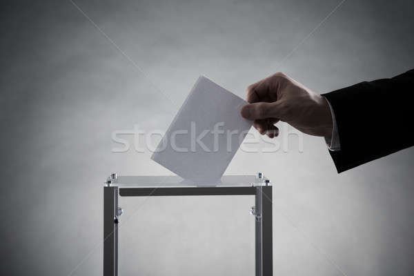 Strony głosowanie szkła polu działalności Zdjęcia stock © AndreyPopov