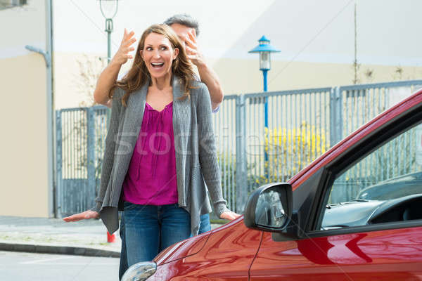 Couple Standing In Front Of New Car Stock photo © AndreyPopov
