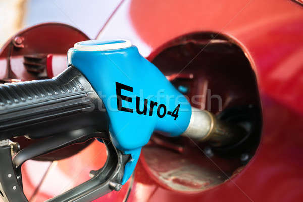 Auto benzine euro tekst mondstuk Stockfoto © AndreyPopov