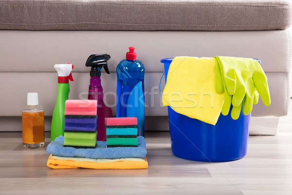 Cleaning Equipments On Hardwood Floor Stock photo © AndreyPopov