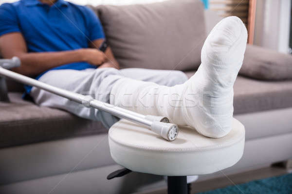 Man's Broken Leg Stock photo © AndreyPopov