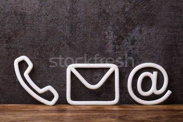 Close-up Of Various White Contact Options Stock photo © AndreyPopov