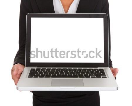 Stock photo: Female Architect Holding Laptop