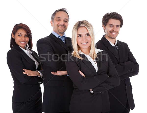 Grupo gente de negocios junto diverso pie blanco Foto stock © AndreyPopov