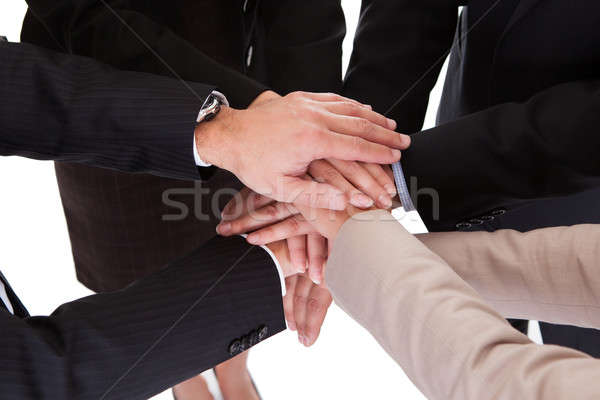 Businesspeople holding hands - teamwork Stock photo © AndreyPopov