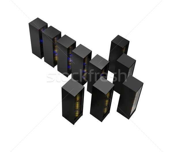 Several rows of server racks Stock photo © AndreyPopov