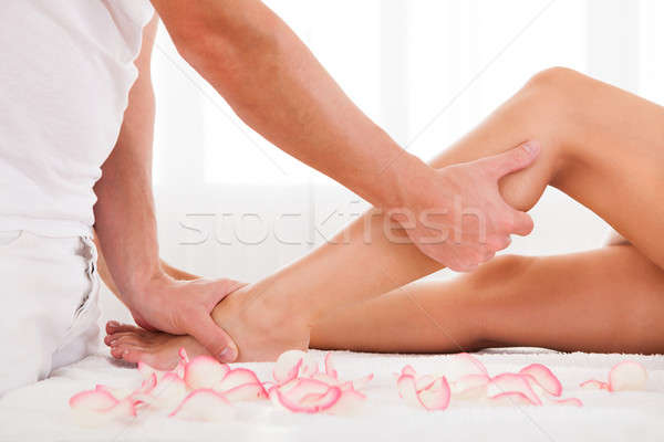 Stressed toes needs to relax Stock photo © AndreyPopov