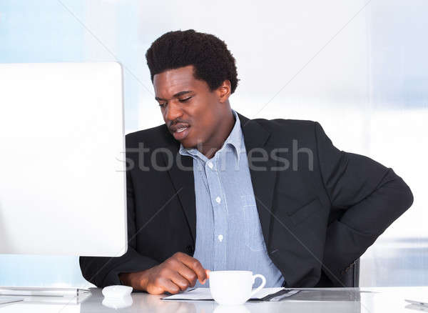 Stock photo: Businessman Suffering From Back Pain
