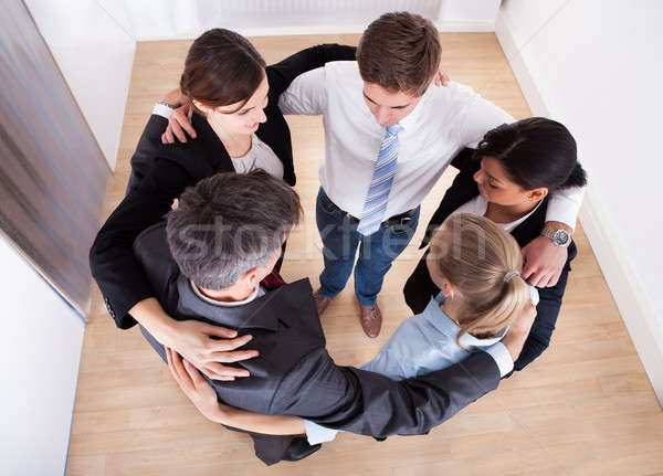 Businesspeople Making Huddle Stock photo © AndreyPopov