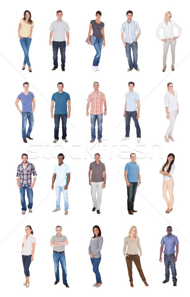 Collage Of Multiethnic People In Casuals Stock photo © AndreyPopov