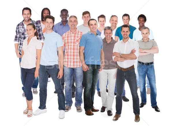 Diverso personas pie blanco hombre mujeres Foto stock © AndreyPopov