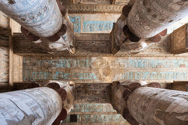Ceiling Of The Temple Dendera Stock photo © AndreyPopov