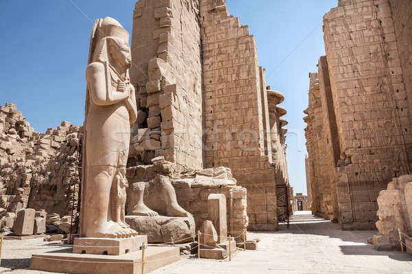 Colossal Statue At Karnak Temple Stock photo © AndreyPopov