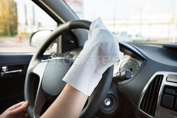 стороны руль перчатка очистки автомобилей Сток-фото © AndreyPopov