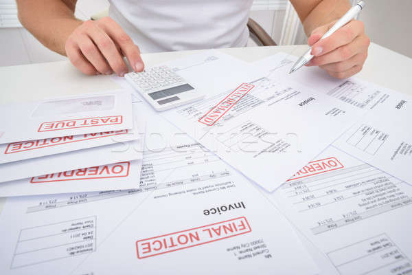 человека деньги бумаги книга Сток-фото © AndreyPopov
