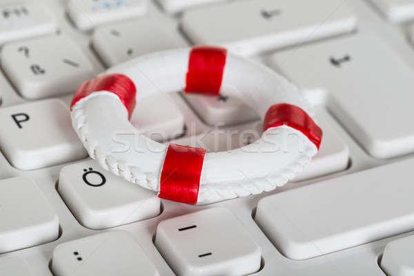 Lifebelt On Keyboard Stock photo © AndreyPopov