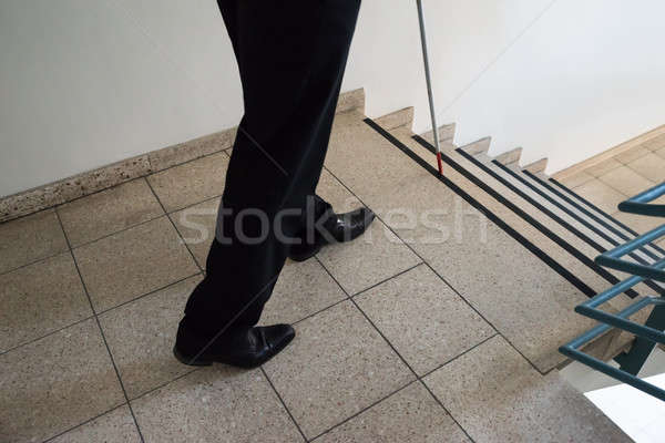 Kör adam yürüyüş merdiven Stok fotoğraf © AndreyPopov