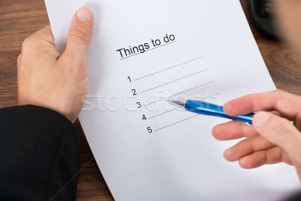 Businessman Planning To Do List Stock photo © AndreyPopov