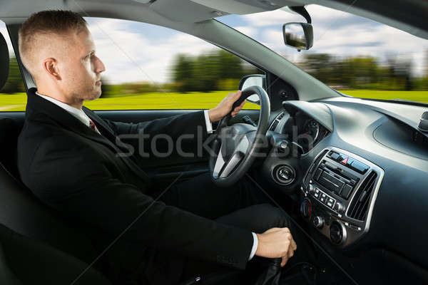 Male Driving A Car Stock photo © AndreyPopov