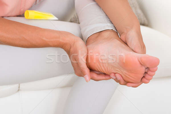 Hand room voet Stockfoto © AndreyPopov