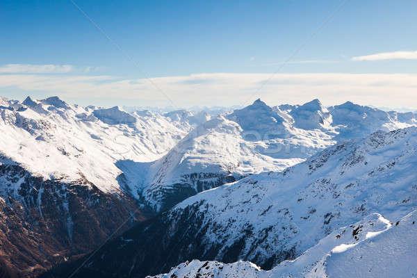 Snowcapped Mountains In Otztal Alps Stock photo © AndreyPopov