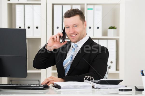 бухгалтер калькулятор документы столе портрет служба Сток-фото © AndreyPopov