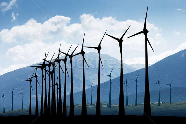 Windmill In A Farmland Stock photo © AndreyPopov