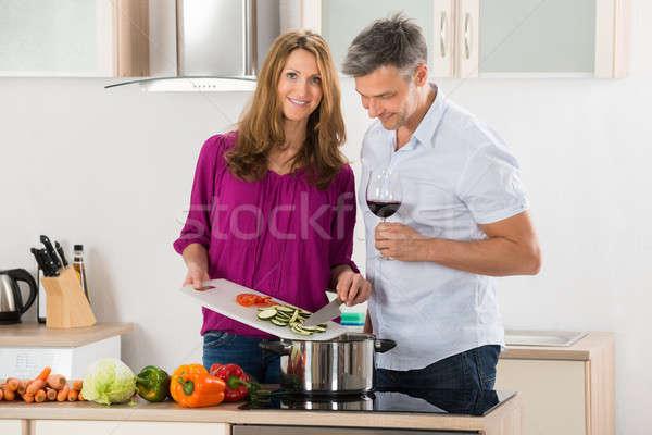 пару кухне жена муж Сток-фото © AndreyPopov
