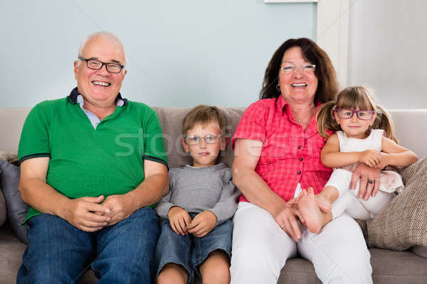 Grandparents And Grandchildren Wearing Glasses Stock photo © AndreyPopov