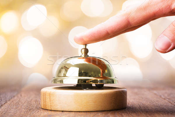 Person Ringing Service Bell Stock photo © AndreyPopov