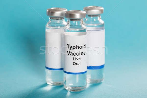 疫苗 三 綠松石 醫生 玻璃 醫藥 商業照片 © AndreyPopov