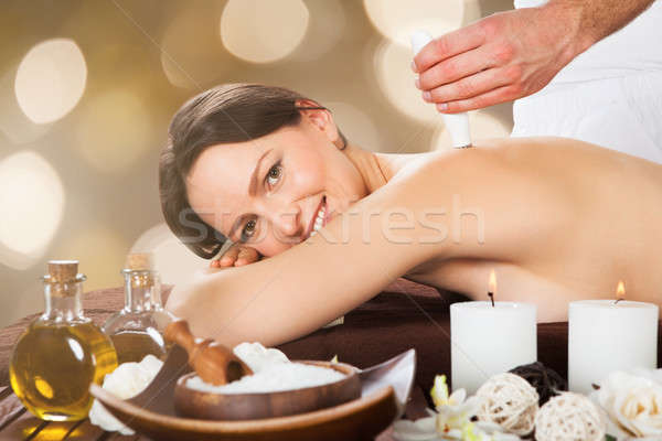 Woman Receiving Epilation Laser Treatment Stock photo © AndreyPopov