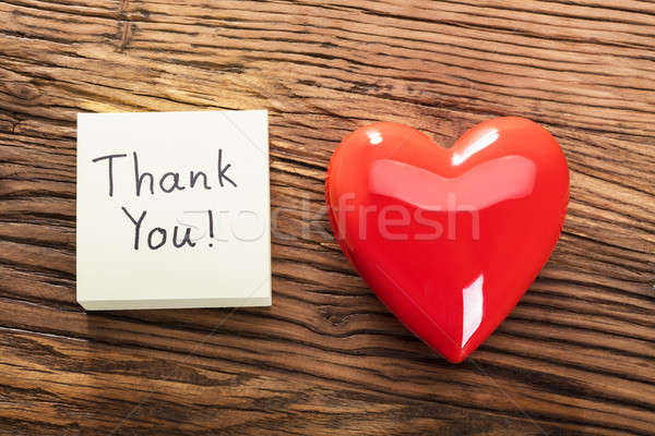 Thank You Note With Heart Stock photo © AndreyPopov