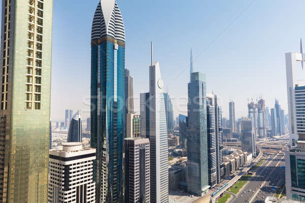 View Of Sheikh Zayed Road Stock photo © AndreyPopov