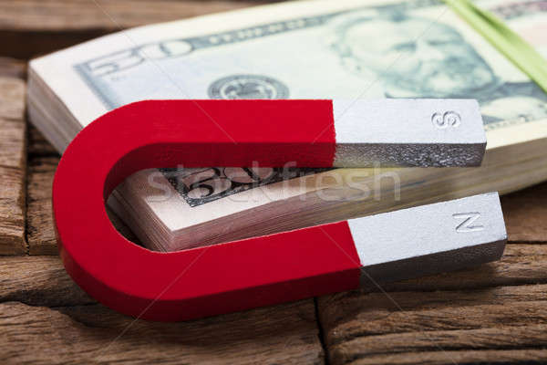 Aimant 50 dollar Bill table Photo stock © AndreyPopov