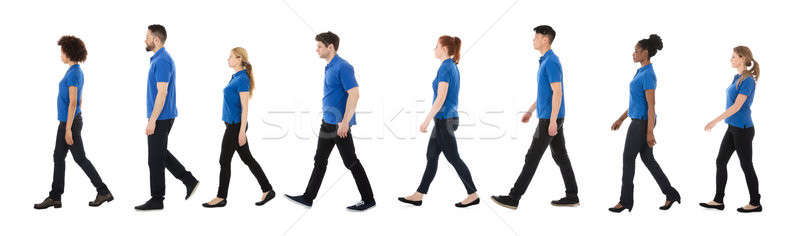 Group Of Janitors Walking In A Row Stock photo © AndreyPopov