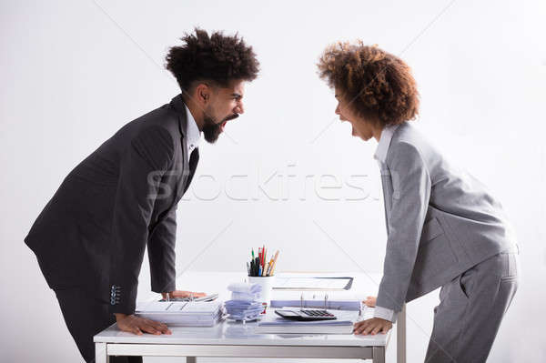 Stock photo: Two Businesspeople Shouting At Each Other