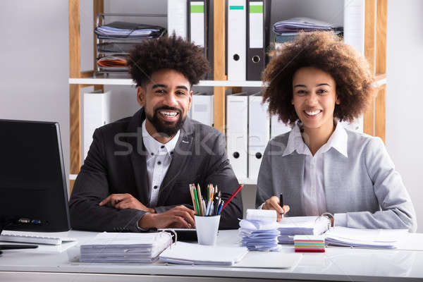 Stock photo: Portrait Of Two Businesspeople