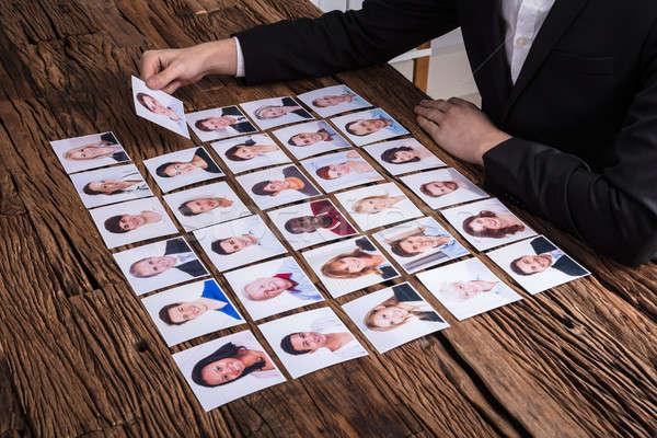 Fotografia candidato mano legno Foto d'archivio © AndreyPopov