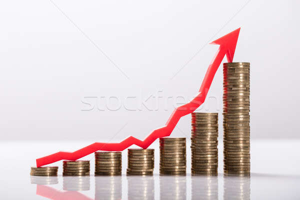 Close-up Of Increasing Golden Coins Stock photo © AndreyPopov