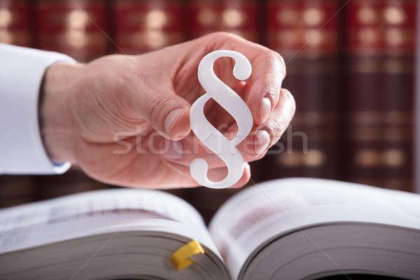 Judge Holding Paragraph Symbol Stock photo © AndreyPopov