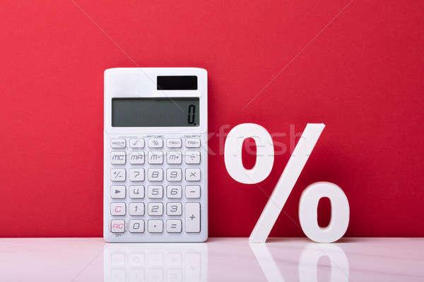 Calculator And White Percentage Symbol Stock photo © AndreyPopov