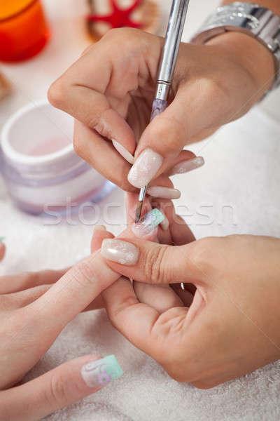 Applying gel Stock photo © AndreyPopov