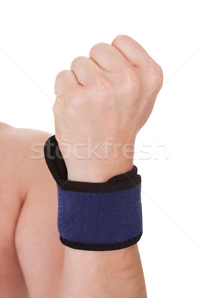 Close Up Of Man Wearing Wrist Brace Stock photo © AndreyPopov