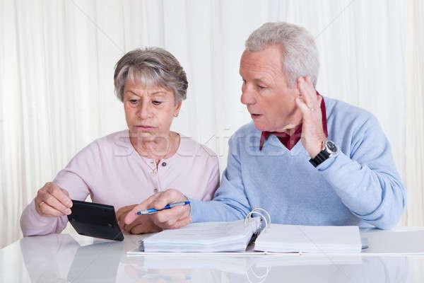 Stressed Senior Couple Calculating Budget Stock photo © AndreyPopov