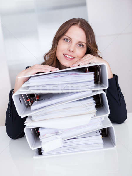 Overworked stressed businesswoman Stock photo © AndreyPopov