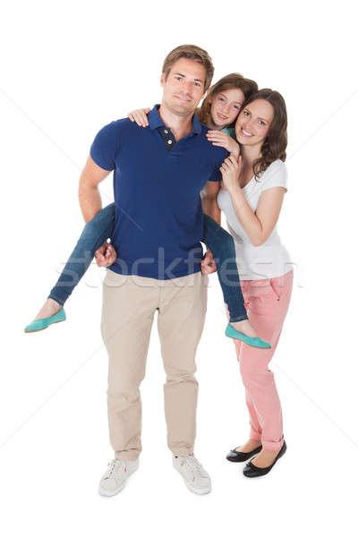 Retrato afetuoso retrato de família família branco mulher Foto stock © AndreyPopov